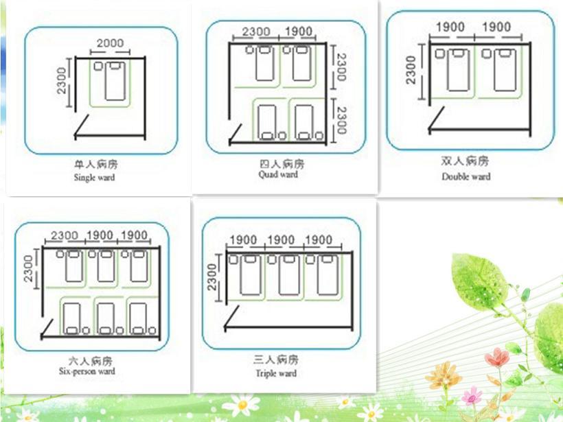 医院病床隔帘安装设计图